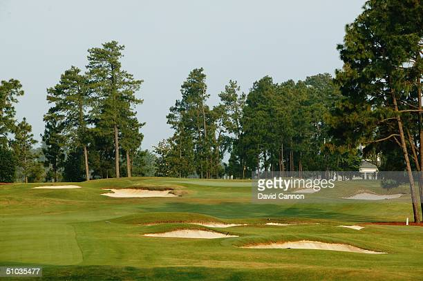 The 365 yard par 4 13th hole on the Pinehurst No 2 Course venue for the 2005 US Open Championship on May 20 2004 in Pinehurst North Carolina USA