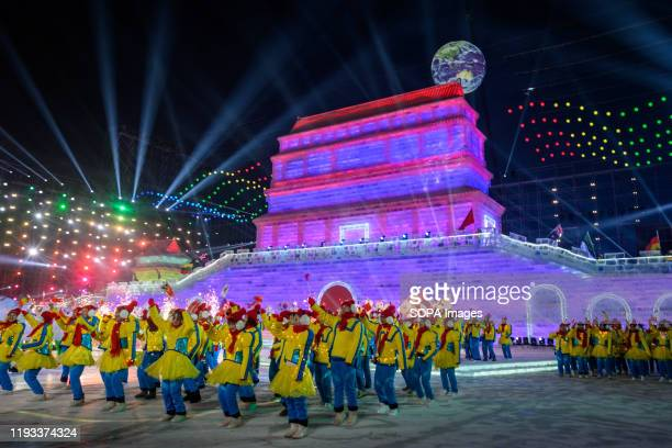 The 36th Harbin Ice and Snow Festival Opening ceremony in Harbin Heilongjiang province Harbin International Ice and Snow Sculpture Festival is one of...
