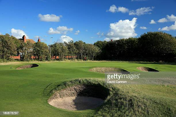The 372 yards par 4, 2nd hole 'Road' which will play as the 4th hole in the 2014 Open Championship at Royal Liverpool Golf Club on September 14, 2013...