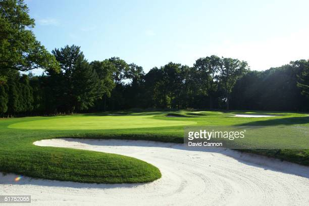 The 378 yard par 4 2nd hole on the Lower Course at Baltusrol Golf Club venue for the 2005 USPGA Championship, on September 24, 2004 in Springfield,...