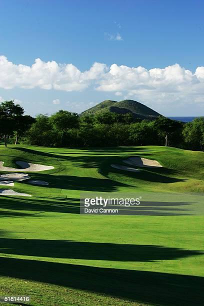 The 392 yard par 4 10th hole on the Wailea Golf Club Gold Course in Wailea on the island of Maui Hawaii USA