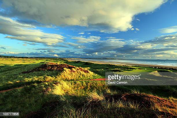 The 392 yards par 4 8th hole 'Burn' at The Western Gailes Golf Club on August 27 2010 in Irvine Ayrshire Scotland