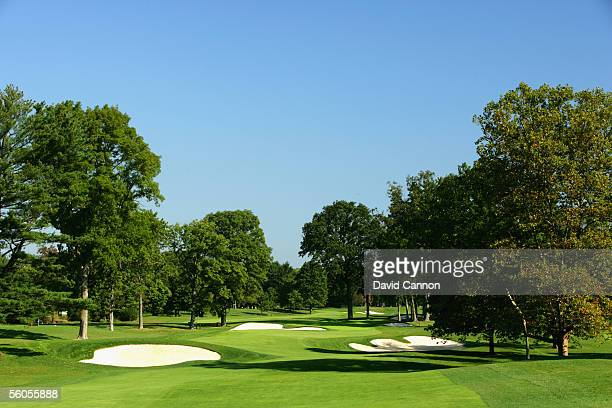 The 396 yard par 4, 11th hole 'Billows' on the West Course at Winged Foot Golf Club venue for the 2006 US Open, on September 19, 2005 in Mamaroneck,...