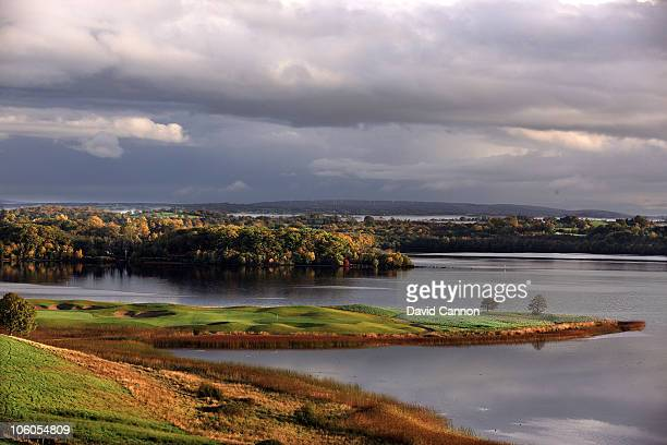 The 396 yards par 4 7th hole 'Devenish Drop' on the Faldo Championship Course at Lough Erne Resort on October 23 2010 in Enniskillen Northern Ireland