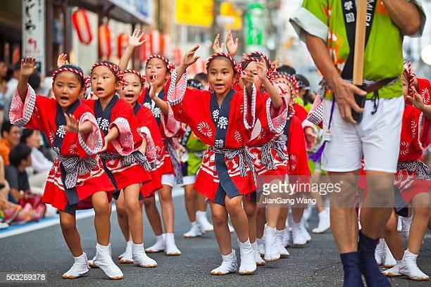 the 39th kanagawa yamato awaodori festival - happi stock photos and pictures