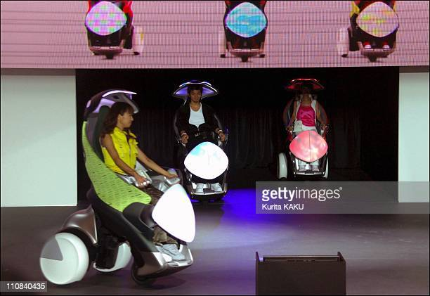 The 39Th Tokyo Motor Show In Tokyo Japan On October 19 2005 Toyota also has a single passenger electric vehicle called the iswing This vehicle takes...