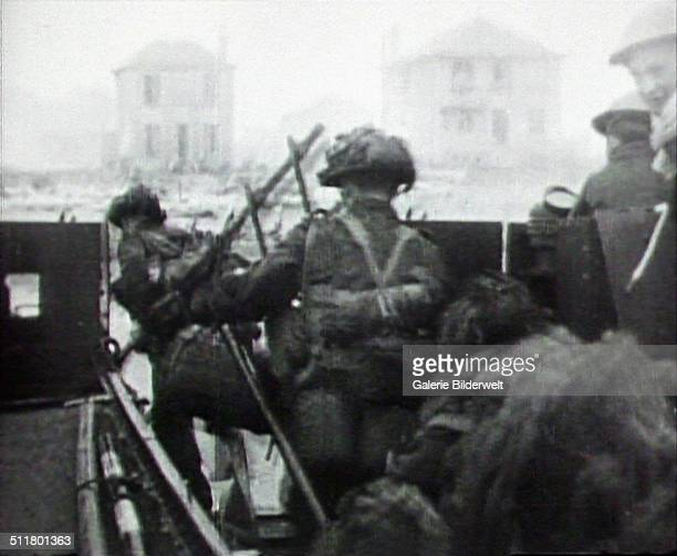 The 3rd Canadian Infantry Division reinforced by the 2nd Canadian Armoured Brigade lands on Juno Beach. 6th June 1944. The first wave was brought...