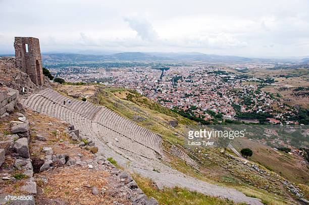 The 3rd century BC theatre the steepest of the ancient world in Pergamon an ancient Greek city in modern Bergama Turkey