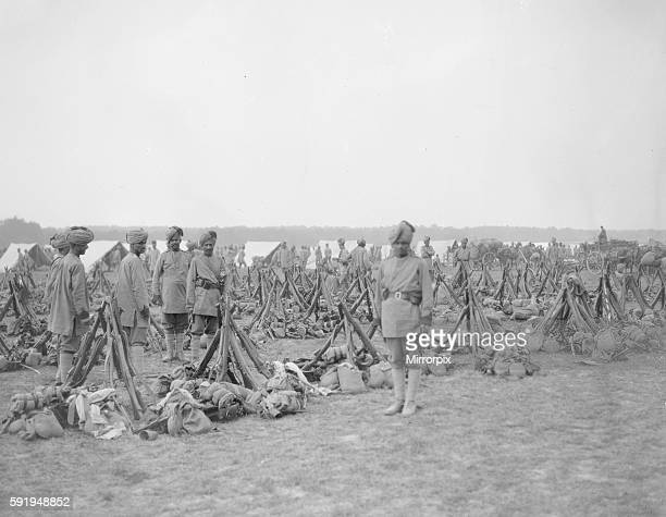 The 3rd Lahore Indian Division seen here at their camp in Orleans France Circa October 1914