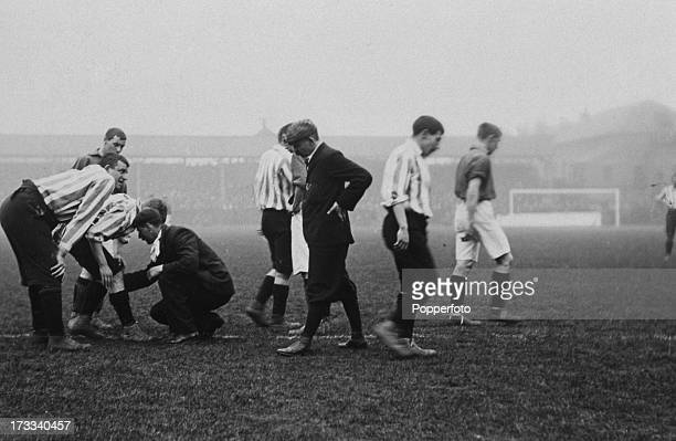 The 3rd replay of the FA Cup semifinal between Sheffield United and Liverpool at Derby UK 30th March 1899 Sheffield United won 10 Here Sheffield's...