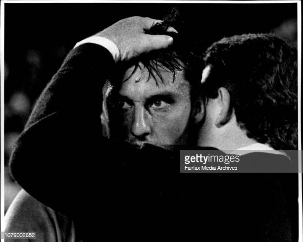 The 3rd state of Origin *****.Phil Gould Hugs Laurie Daley after the match. Steve Walters tries to stop Wiseharts progress Shearer with Fitler and...