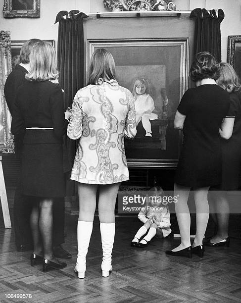 The 3YearOld Girl Sitting Down Her Portrait Made By Peter Blake When Shown To The Public In Painter'S Hall Little Trinity London 19691201