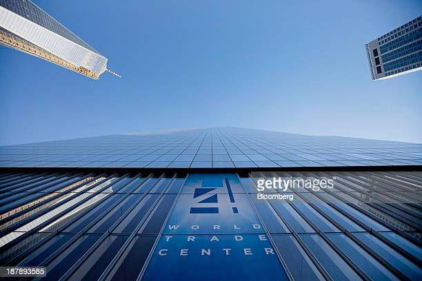 The 4 World Trade Center building stands during a dedication ceremony in New York US on Monday Nov 4 2013 4 World Trade Center the 72 story building...