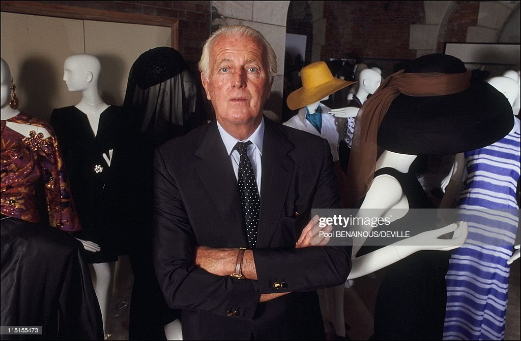 The 40 years of the creation of H.De Givenchy in France in September, 1991 - Hubert de Givenchy.
