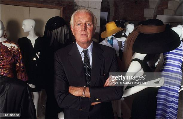 The 40 years of the creation of HDe Givenchy in France in September 1991 Hubert de Givenchy