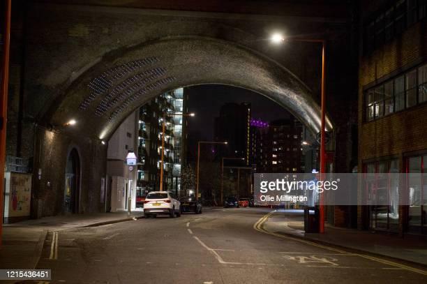 The 401 Bridge seen deserted on March 28, 2020 in London, England. British Prime Minister, Boris Johnson, announced strict lockdown measures urging...