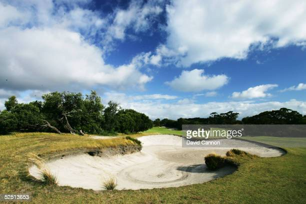 The 401 metre par 5 17th hole on the West Course at Royal Melbourne Golf Club which plays as the 15th hole on the tournament Composite Course on...