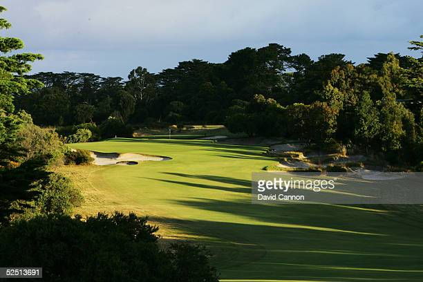 The 402 metre par 4 2nd hole on the East Course at Royal Melbourne Golf Club which plays as the 6th hole on the tournament Composite Course on...