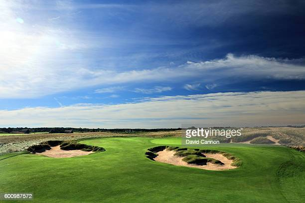 The 403 yards par 4 11th hole at Erin Hills Golf Course the venue for the 2017 US Open Championship on August 31 2016 in Erin Wisconsin
