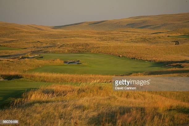 The 408 yard par 4 11th hole on the Sand Hills Golf Club on September 15 2005 in Mulllen Nebraska United States