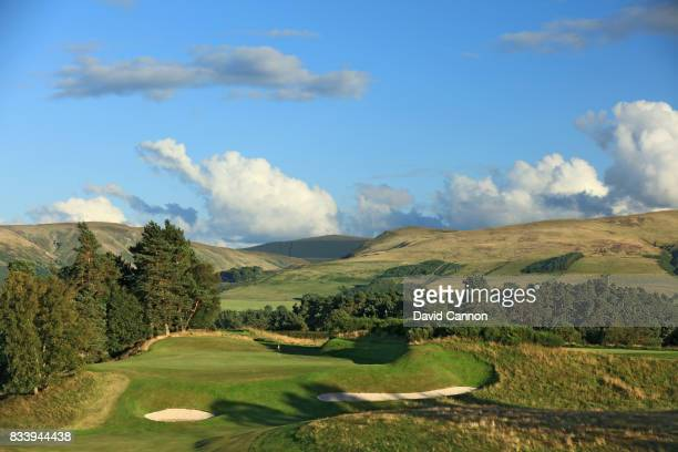 The 409 yards par 4, ninth hole on the King's Course at The Gleneagles Hotel on August 9, 2017 in Auchterarder, Scotland.