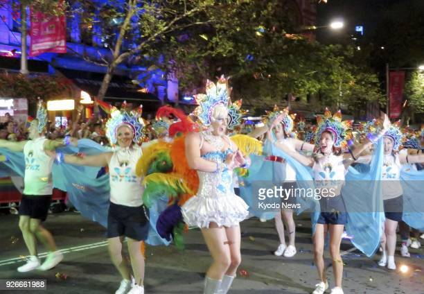 The 40th annual Gay and Lesbian Mardi Gras parade takes place in Sydney Australia on March 3 the first to be held since the country legalized samesex...