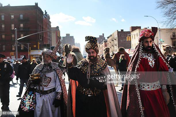 The 40th annual Three Kings Day Parade marches through East Harlem on January 6 2017 in New York City The parade which begins at 106th Street and...