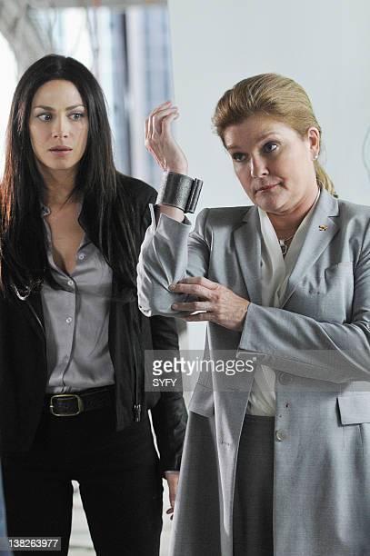 WAREHOUSE 13 The 40th Floor Episode 308 Pictured Joanne Kelly as Myka Bering Kate Mulgrew as Jane Lattimer