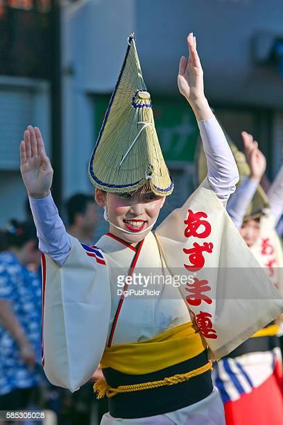 the 40th kanagawa yamato awaodori dance festival - azuma-ren - awa dance festival stock photos and pictures