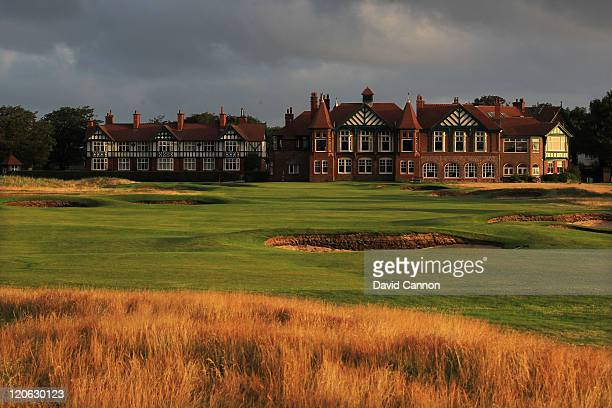 The 410 yards par 4 18th hole at Royal Lytham and St Annes Golf Club the venue for the 2012 Open Championship on July 25 2011 in Lytham St Annes...