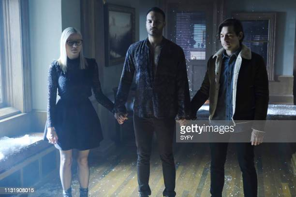 THE MAGICIANS The 411 Episode 411 Pictured Olivia Taylor Dudley as Alice Arjun Gupta as Penny Adiyodi Jason Ralph as Quentin Coldwater