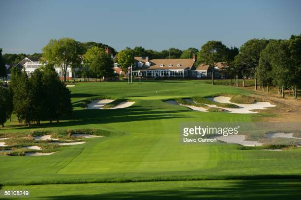 The 411 yard par 4 18th hole on the Black Course at Bethpage Sate Park venue for the 2009 US Open on September 21 2005 in Farmingdale New York United...