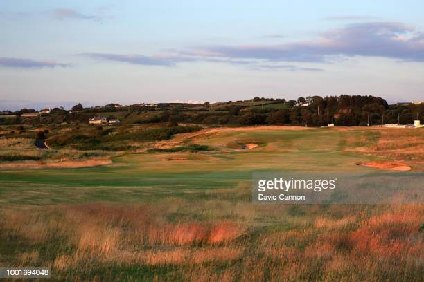 The 416 yards par 4 first hole 'Hughies' on the Dunluce Links at Royal Portrush Golf Club the venue for The Open Championship 2019 on July 2 2018 in...
