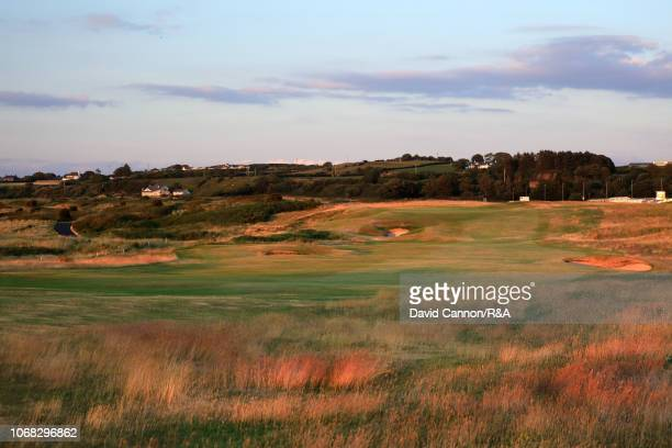 The 416 yards par 4, first hole 'Hughies' on the Dunluce Links at Royal Portrush Golf Club the venue for The Open Championship 2019 on July 2, 2018...