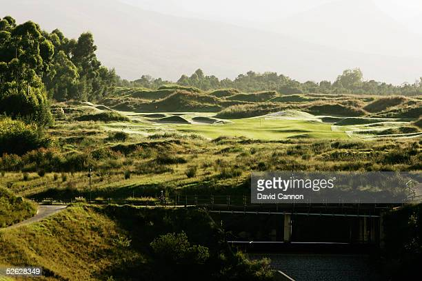 The 418 metre par 4, 3rd hole on the Links Course at Fancourt, on February 25 in George, South Africa.