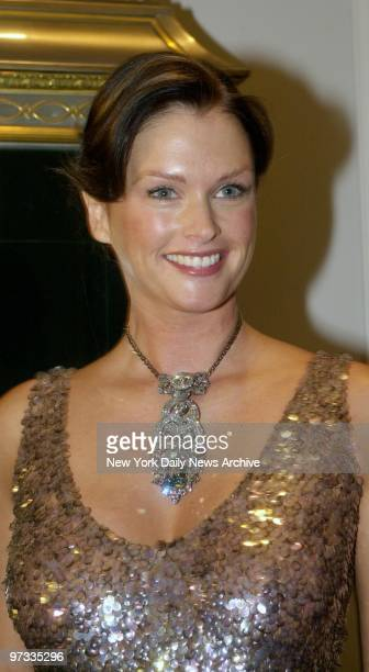 The 41carat Dresden Green the largest green diamond is modeled by Kylie Bax at the Harry Winston store on Fifth Ave The diamond was in town for 12...