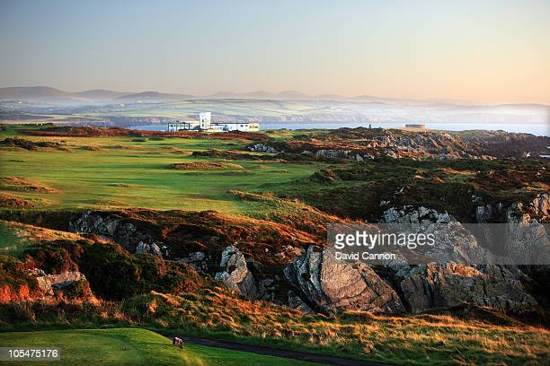 The 421 yards par 4 17th hole at The Castletown Golf Links on October 11 2010 in Castletown Isle of Man