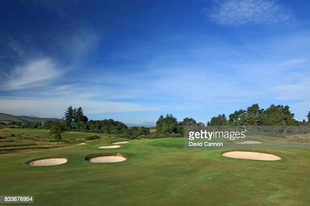 The 421 yards par 4 third hole on the Queen's Course at The Gleneagles Hotel on August 10 2017 in Auchterarder Scotland