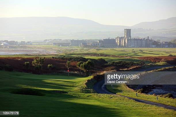 The 423 yards par 4 5th hole at The Castletown Golf Links on October 11 2010 in Castletown Isle of Man