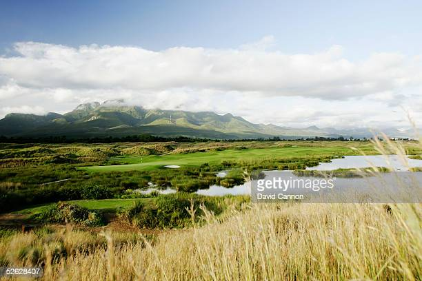 The 425 metre par 4, 15th hole on the Links Course at Fancourt, on February 24 in George, South Africa.