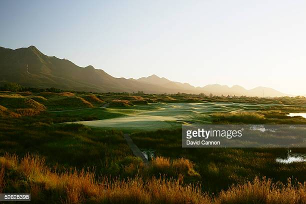 The 425 metre par 4, 15th hole on the Links Course at Fancourt, on February 25 in George, South Africa.