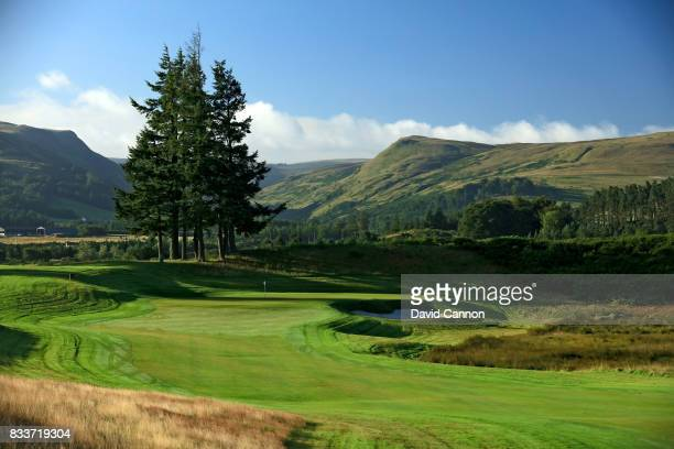 The 426 yards par 4 first hole on the PGA Centenary Course at The Gleneagles Hotel on August 9 2017 in Auchterarder Scotland