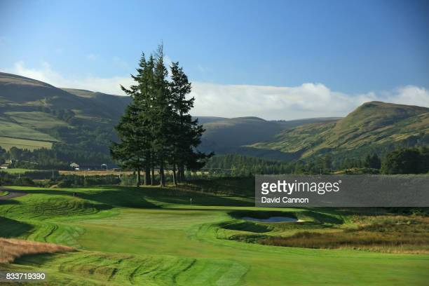 The 426 yards par 4, first hole on the PGA Centenary Course at The Gleneagles Hotel on August 9, 2017 in Auchterarder, Scotland.