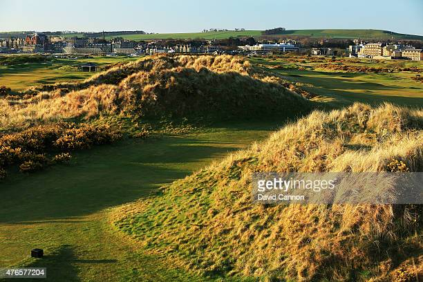 The 428 yards par 4 16th hole 'Freddie Tait' on the Jubilee Course at St Andrews Links on April 21 2015 in St Andrews Scotland