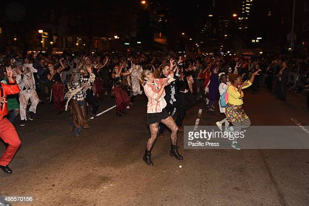 The 42nd annual Halloween parade filled 6th Avenue in the West Village with costumes floats weekend revelry