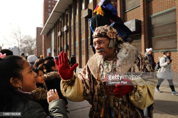 The 42nd annual Three Kings Day Parade marches through East Harlem on January 4 2019 in New York City The parade which begins at 106th Street and...