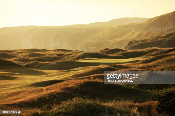 The 430 yards par 4, eighth hole 'Dunluce' on the Dunluce Links at Royal Portrush Golf Club the venue for The Open Championship 2019 on July 3, 2018...