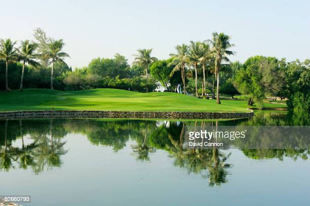The 436 yard par 4, 5th hole on the Majilis Course at the Emirates Golf Club, on December 06 in Dubai, United Arab Emirates.