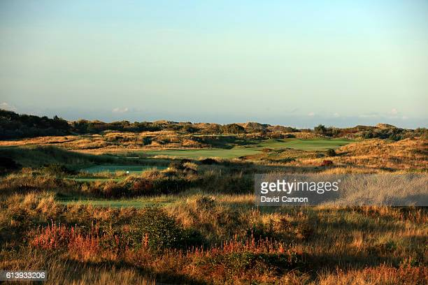The 439 yards par 4 16th hole at Royal Birkdale Golf Club the host course for the 2017 Open Championship on October 10 2016 in Southport England