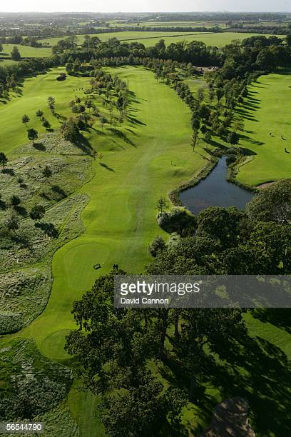 The 440 yard par 4, 14th hole on the Palmer Course, venue for the 2006 Ryder Cup at the K Club, on September 27, 2005 in Straffan, Co. Kildare,...